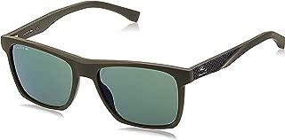 Lacoste Men's Sunglasses Rectangular La Sport Inspired Green Matte