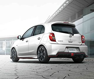 Nissan March Nismo S (2013) Car Art Poster Print on 10 mil Archival Satin Paper White Rear Side View 36