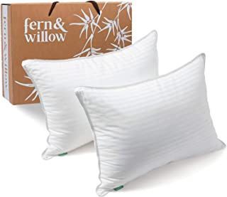 Fern And Willow Pillows for Sleeping - Queen Size, 2 Pack - Premium Down Alternative, Hotel Bed Pillow Set - Luxury, Plush...