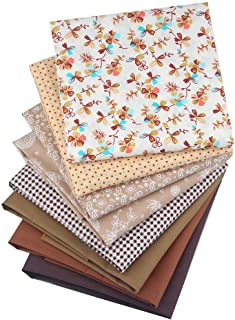 ShuanShuo Coffer Series Cotton Fabric Quilting Patchwork Fabric Fat Quarter Bundles Fabric for Sewing DIY Crafts Handmade ...