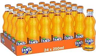 Fanta Orange Carbonated Soft Drink, Glass Bottle - 250 ML (Pack of 24)