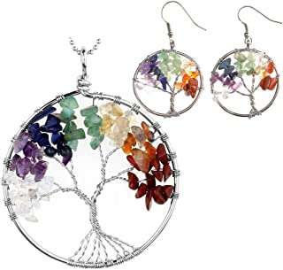 Best tree of life necklace and earrings set Reviews