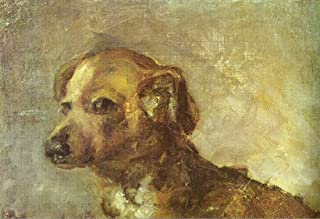 Clipper, le chien de Picasso by Pablo Picasso.100% Hand Painted.Oil On Canvas. Reproduction. (Unframed and Unstretched). 40x27 In.