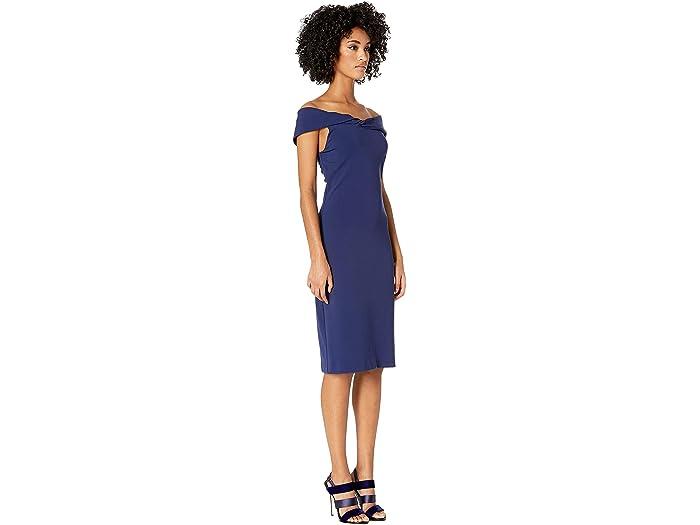 Nicole Miller Structured Heavy Jersey Twist Off Shoulder Dress 6pm