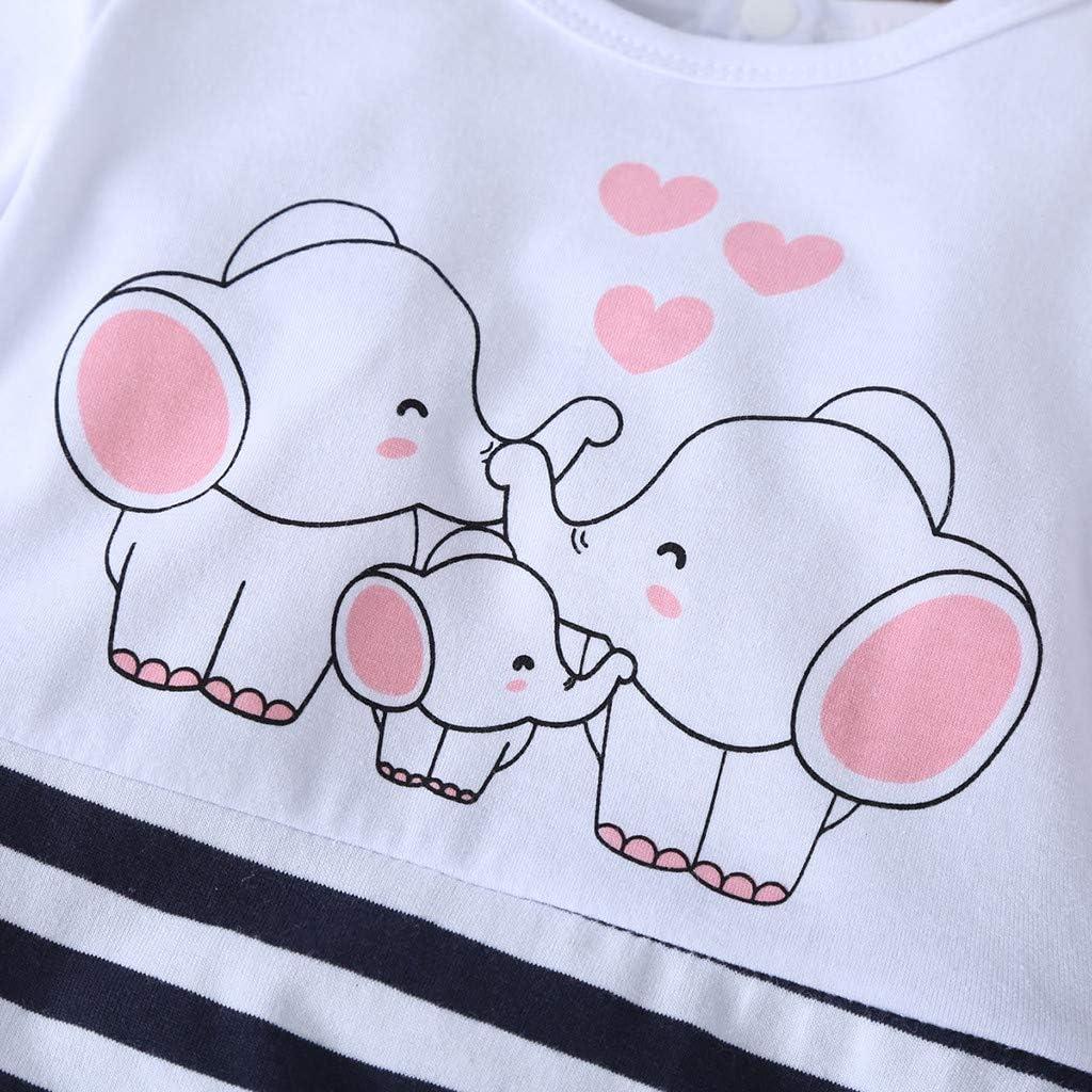 wuayi Baby Jungen Bekleidungsset Jungen Elefant Drucken Lange /Ärmel Strampler Hut Top Body Herbst Kleidung Winter 3-6 Monate // 6-12 Monate // 12-18 Monate // 18-24 Monate Geometrisch Hosen