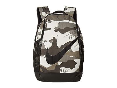 Nike Kids Brasilia Camo Backpack (Little Kids/Big Kids) (Light Bone/Black/Black) Backpack Bags
