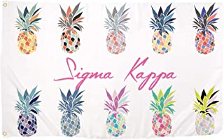 Sigma Kappa Pop Art Pineapple Sorority Flag Greek Letter Use as a Banner 3 x 5 Feet Sign Decor Sig Kap
