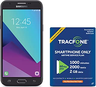 TracFone Samsung Galaxy J3 Luna Pro 4G LTE Prepaid Smartphone with Amazon Exclusive Free $40 Airtime Bundle