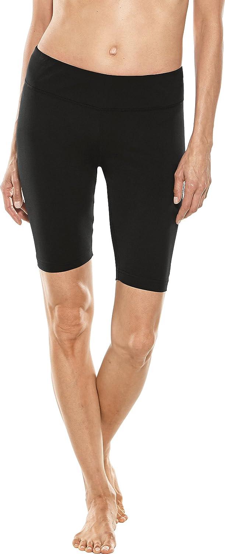 Coolibar UPF 50+ Damen Mid-Rise Deep Water Badeshorts Sonnenschutz