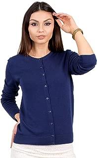 Women's Wool Cardigan Button Up Short Lightweight Long Sleeve Sweater