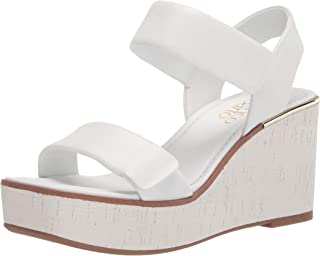 Franco Sarto Women's Sweety Sandal, White, 9.5