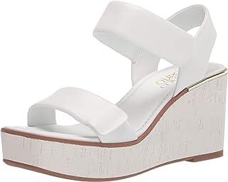 Franco Sarto Women's Sweety Sandal, White, 9.5