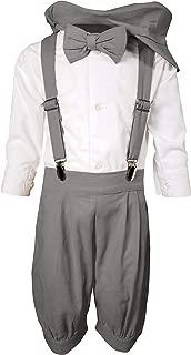 Baby Toddler Little Boys Vintage Knickerbocker Suit Set - 5 pc Suspender Bowtie Knickers Suit