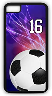 iPhone 8 Phone Case Soccer SC039Z by TYD Designs in Black Rubber Choose Your Own Or Player Jersey Number 16