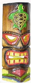 WorldBazzar Hand Carved SEA Turtle Polynesian Hawaiian Tiki Style MASK 12 in Tall