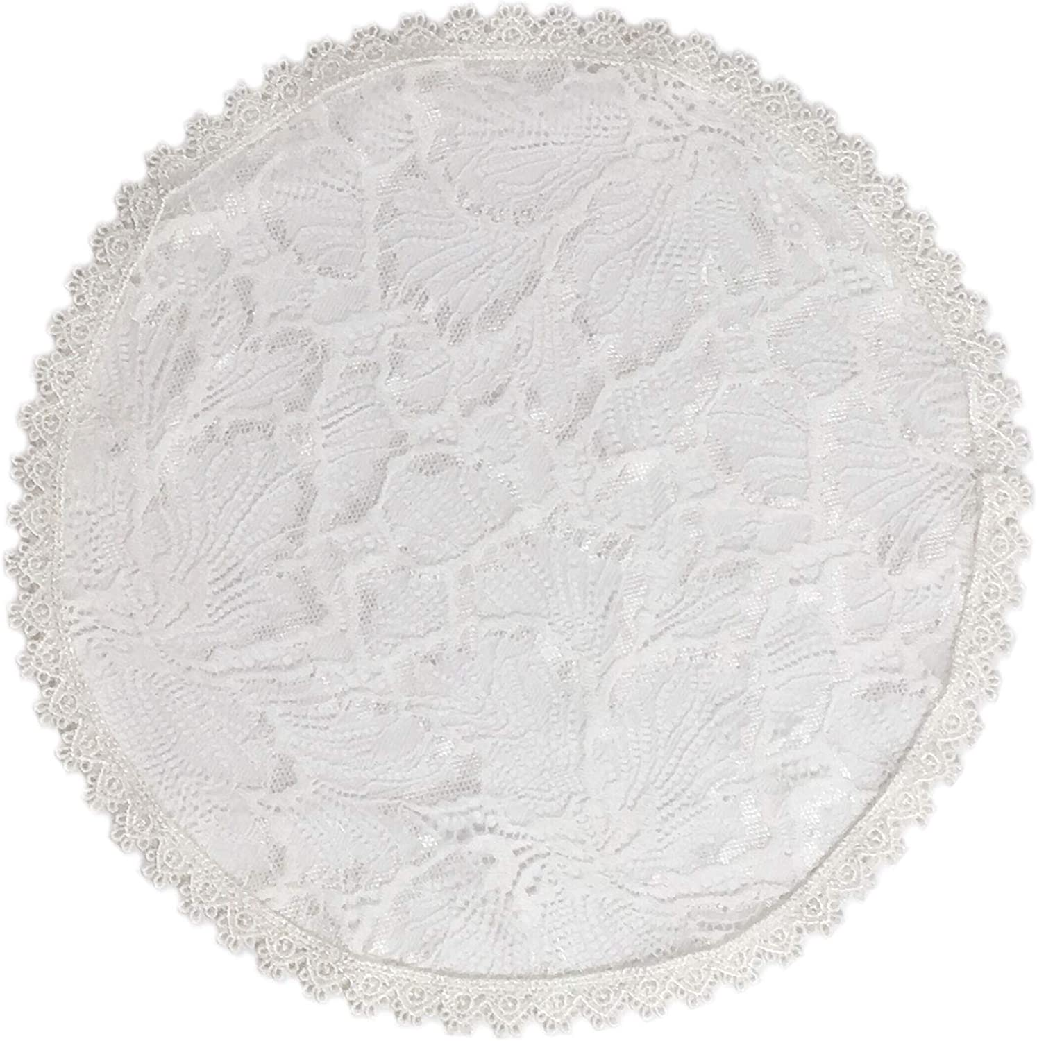 Pamor Chapel Cap Veil Floral Lace Mantilla Inspired Circle Round Head Covering