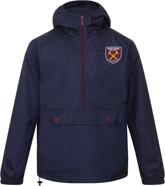 Impermeable Chaqueta Cortavientos Oficial para Hombre West Ham United FC