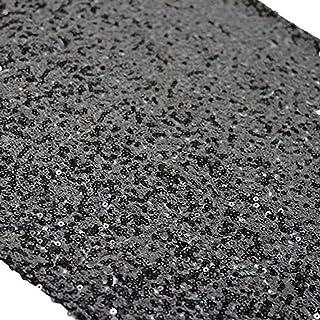 TRLYC 5Pcs 12 by 108-Inch Black Sequin Tablerunner