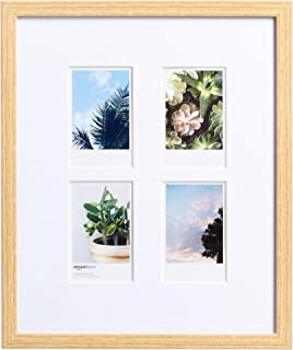 AmazonBasics - Marco de fotos de Instax, 4 huecos, 8.3 x 5.1 cm, efecto madera natural