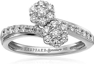 Keepsake Signature 14k White Gold Diamond Two-Stone Engagement Ring (3/8cttw, H-I Color, I1 Clarity)