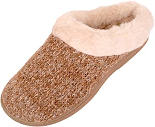 ABSOLUTE FOOTWEAR Womens Slip On Slippers/Mules/Indoor Shoes with Warm Faux Fur Inners