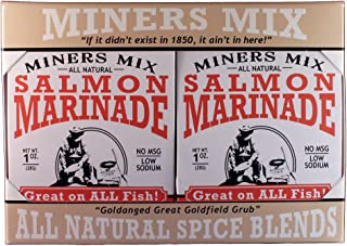 Miners Mix - Gourmet Salmon Marinade Dry Mix Is Not Just For Salmon; It's Great For All Fish That Swam. Bak...