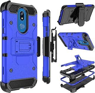 LG K40 Case, LG Solo LTE Case, LG K12 Plus Case, Zenic Heavy Duty Shockproof Hybrid Full-Body Protection Case Cover with Swivel Belt Clip and Kickstand for LG K40/LG Solo LTE/LG K12 Plus (Blue)