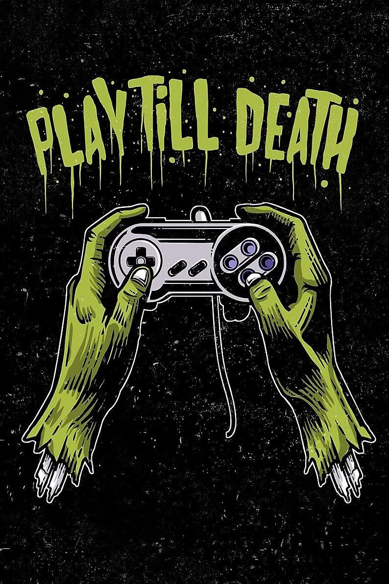 半島コンテスト破滅Play Till Death: Zombie Gamer Hobonichi Techo Plain Book For Men, Women, Teen and Kids