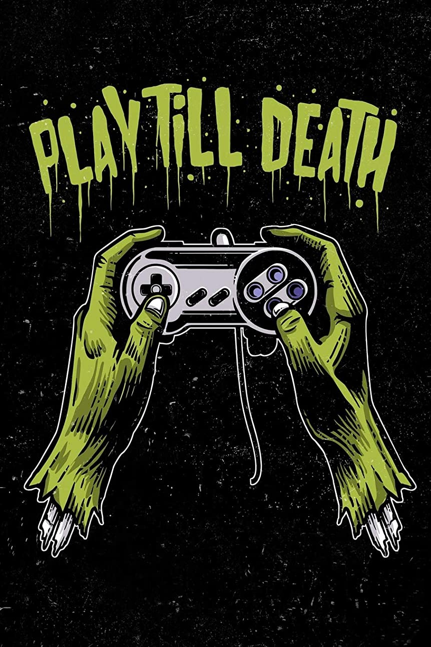 連続した簿記係柔らかいPlay Till Death: Zombie Gamer Art Sketchbook For Men, Women, Teen and Kids