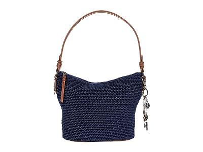 The Sak Sequoia Crochet Small Hobo (Denim) Handbags