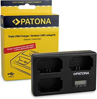 comprar comparacion PATONA Triple Cargador para NP-FZ100 Batería Compatible con Sony Alpha 9, 7 III, 7R III, 7RM3 con USB Type C Cable