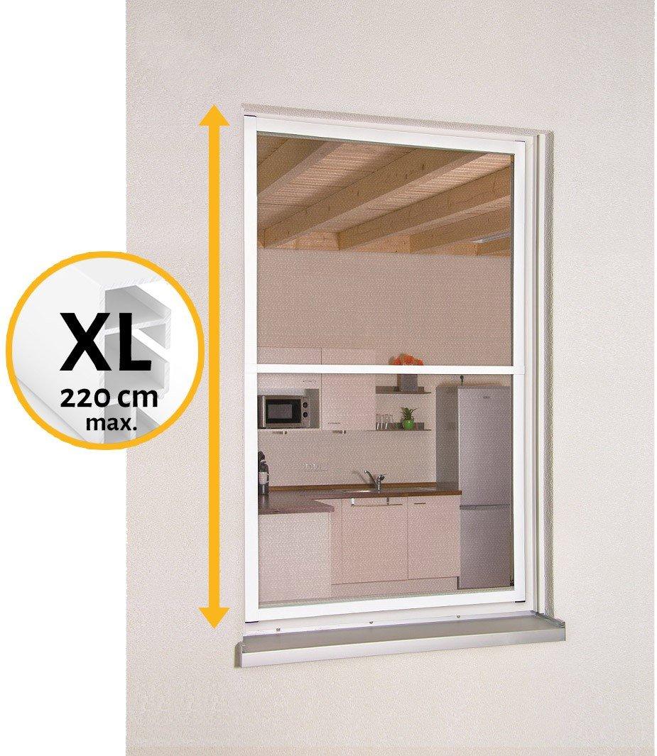Hecht Mosquitera con marco fijo extraíble para ventana Smart XL, fabricada en aluminio, ajustable tanto en
