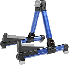 Guitar Stand - Foldable Aluminum Floor Stand Adjustable for All Types of Guitars, Basses, Ukuleles and Violins, Banjo Easy to Carry Steady Stand Safe Protection Blue