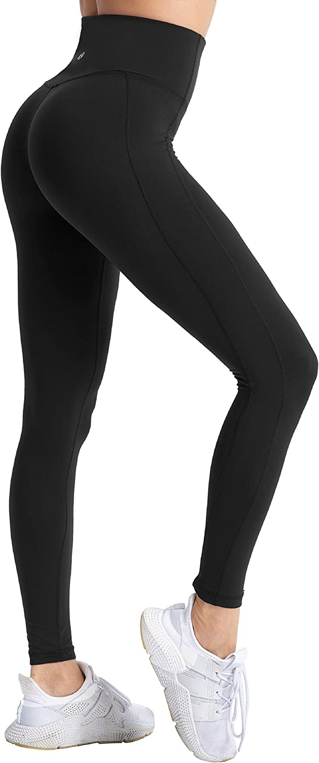 coastal rose Women's Yoga Pants Comfy Brushed 7/8 Length High Waisted Workout Leggings Sport Tights with Inner Pocket