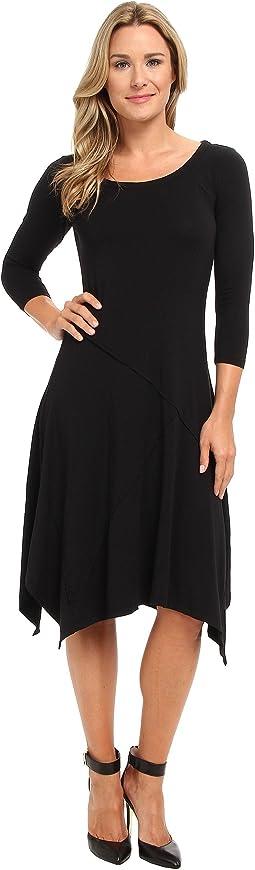 Cotton Modal Seamed Scoopneck Dress