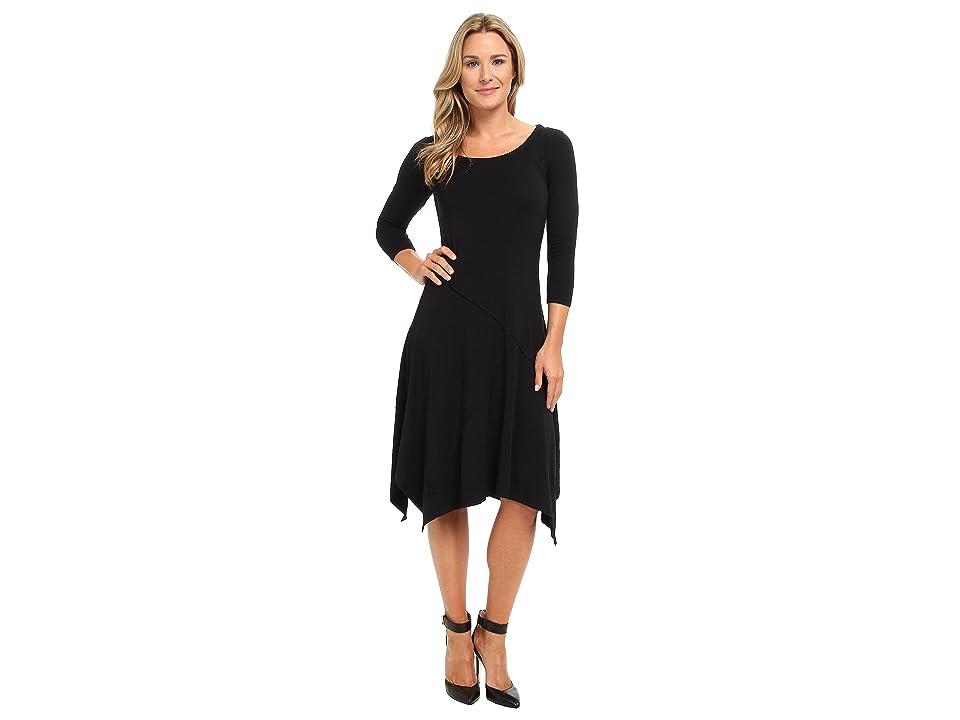 Mod-o-doc Cotton Modal Seamed Scoopneck Dress (Black) Women