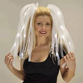 blinkee White LED Noodle Headband Flashing Dreads by