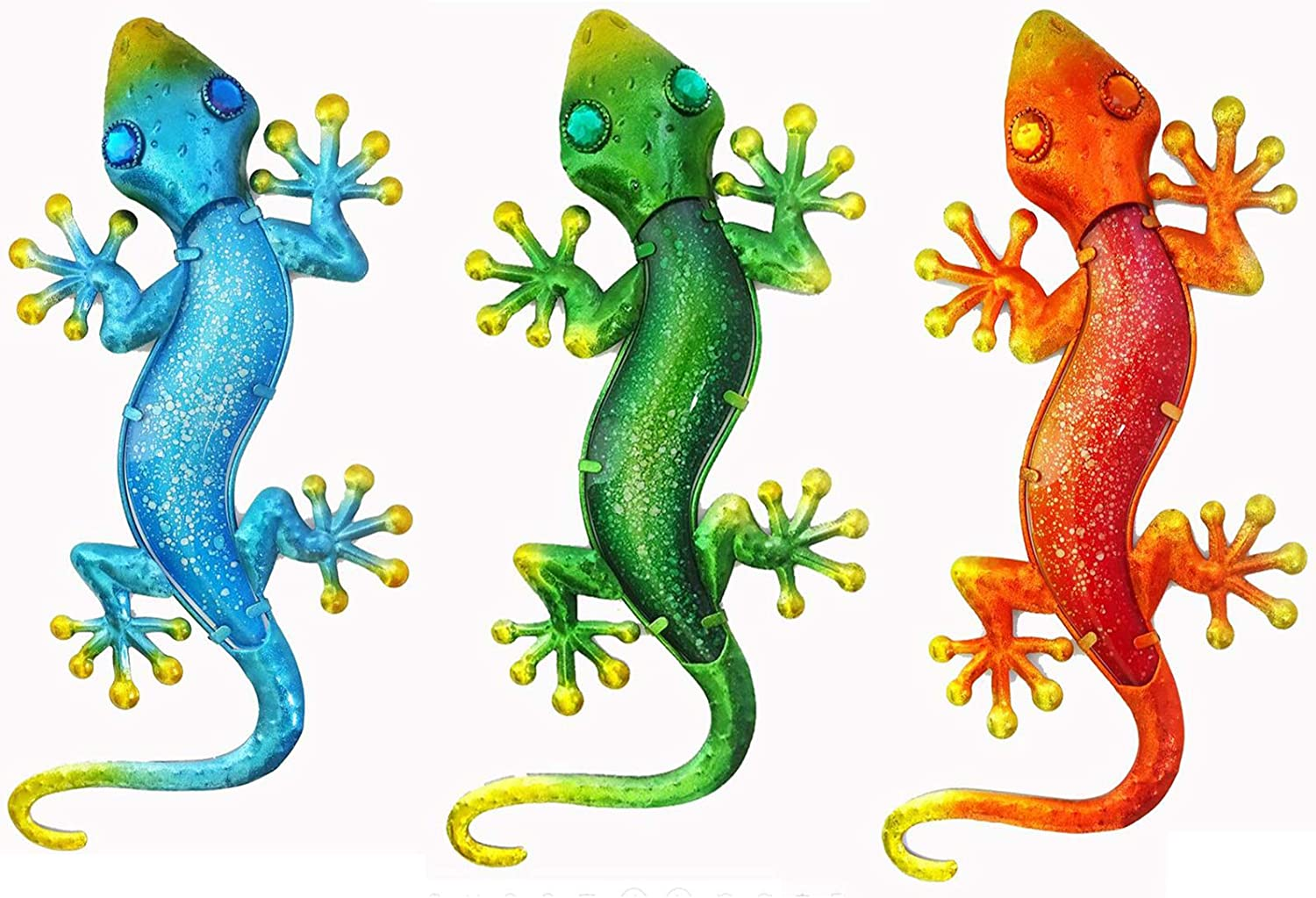 LiffyGift Max 73% OFF Metal Gecko Wall Special price for a limited time Sculptures Outdoor Garden Lizard Art