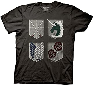 Attack on Titan 4 Sheilds Adult T-Shirt