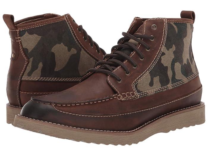 Lucky Brand  Sutton (Dark Brown/Camo Crazy Horse/Fabric) Mens Boots