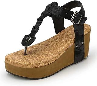 622eda3c61 Sandalias Mujer Cuña Alpargatas Plataforma Bohemias Romanas Flip Flop Mares  Playa Gladiador Verano Tacon Planas Zapatos