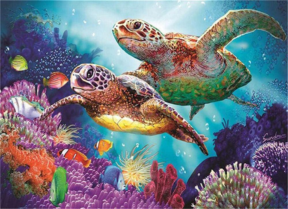 DIY 5D High order Diamond Painting Kits Turtles for Corals Rhin Kids 5 popular Adults