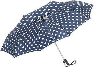 ZKDT Cute Polka Dots Tri-fold Travel Umbrella Light Weight Compact & Portable Umbrellas for Women
