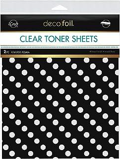 "iCraft Deco Foil Clear Designer Toner Sheets, Reverse Polka, 8.5"" x 11"", 2 Sheets per Pack"
