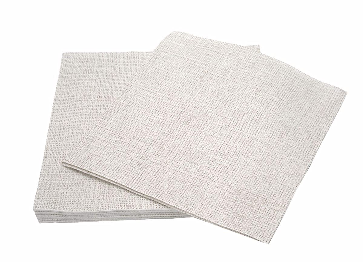 """Simulinen Colored & Decorative Napkins – Grey Stone Twill – Cloth Like & Disposable Dinner Napkins – Soft, Absorbent & Durable – 16""""x16"""" – Pack of 50"""