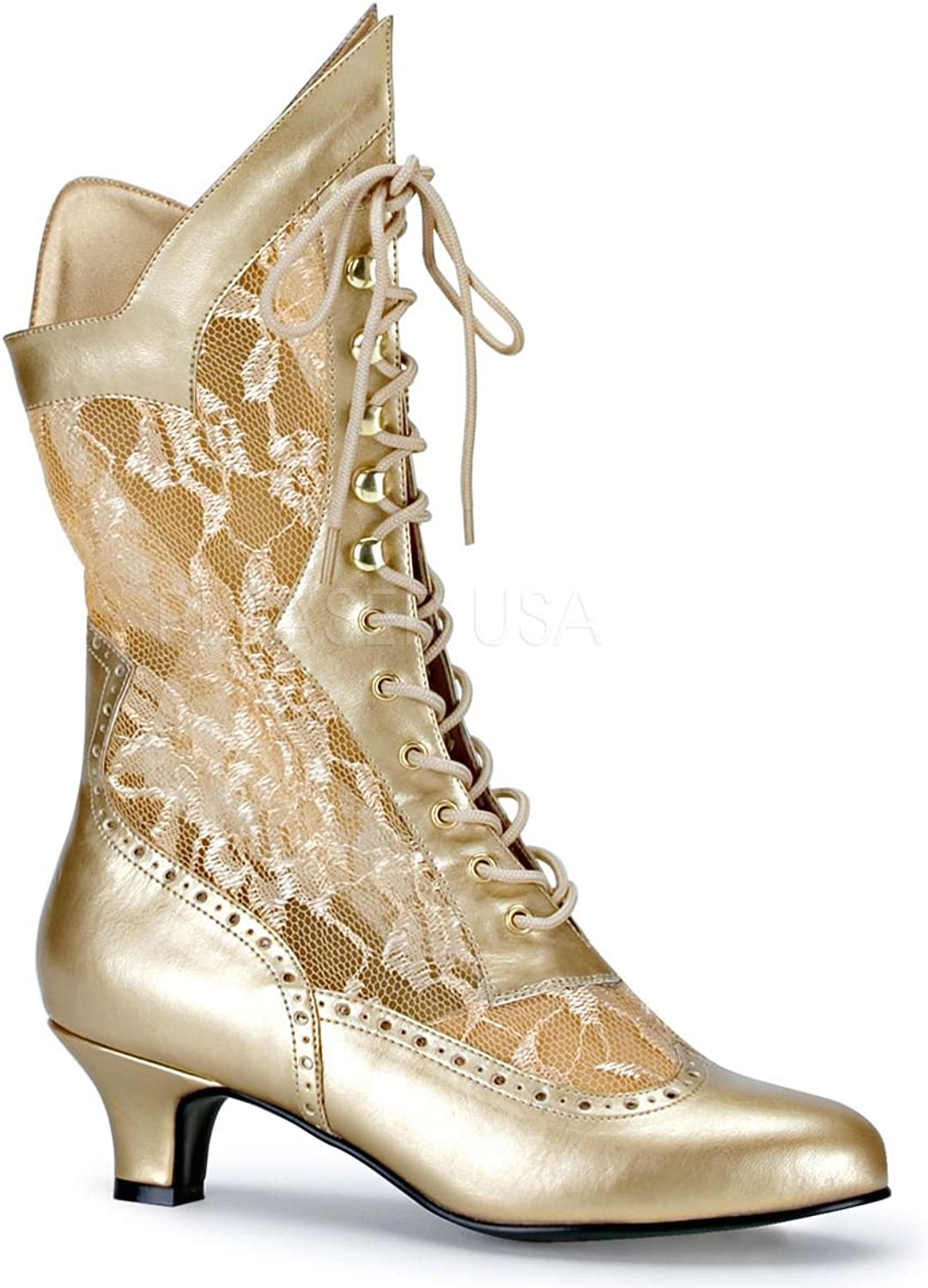 Dame-115, Lace Victorian Tall Boots