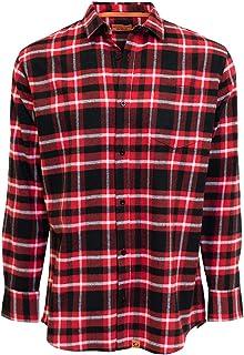 Camisa Xadrez Masculina Manga Longa 100% Algodao Vermelha
