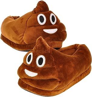 Fun Warm Cute EMOJ Winter Shoes Unisex Adult Slippers - Smiley Poop, Sleeping Face, Demon etc ¡