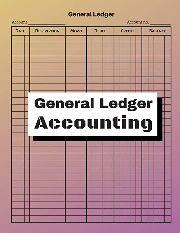General Ledger Accounting: V.14 - 6 Column with 27 Lined Checking Account Transaction, Personal Checking Account Balance, Small Business Bookkeeping / double-sided perfect binding, non-perforated