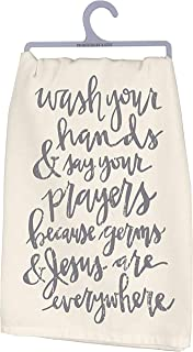 Primitives by Kathy Cotton Dish Towel - Wash Your Hands